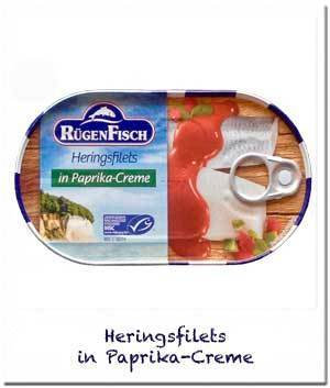 RügenFisch Heringsfilets in Paprika-Creme