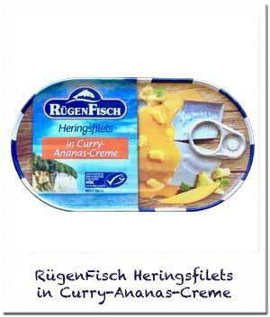 RügenFisch Heringsfilets in Curry-Ananas-Creme
