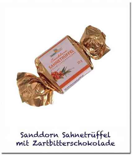 Sanddorn-Vollmilch-Happen, 25 g